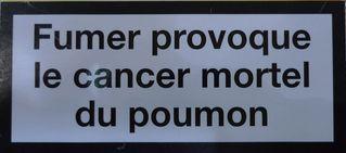 Aufschrift  französische Zigarettenschachtel #1 - rauchen, Krebs, Lungenkrebs cancer, mortel, poumon, fumer