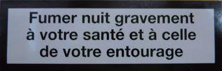 Aufschrift französische Zigarettenschachtel #2 - rauchen, Krebs, Lungenkrebs cancer, mortel, poumon, fumer, Gesundheitsschädigung, Umwelt