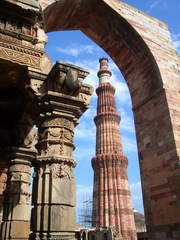 Qutab Minar  - Moschee, Islam, Qutab Minar Komplex, Dehli, Indien, Säule, Tor
