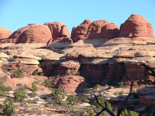 Canyonlands #4 - Wüste, Schlucht, Nationalpark, Naturwunder, Utah, Sandstein, Geologie, Gestein, Felsen, Moab, the Needles, Perm, Trias, USA, Landschaft, Südwesten, salztektonische Strukturen, Colorado-Plateau, Eisenoxyd, Wüstenklima