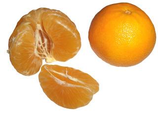 Clementine - Clementine, Orange, Mandarine, Zitrusfrucht, Citrusfrucht, süß, Obst, Frucht, Schale, Spelten, Segmente, rund