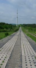 Gedenkstätte Point Alpha #2 - Grenze, Grenzverlauf, Demarkationslinie, Gedenkstätte, Fluchtpunkt, Perspektive