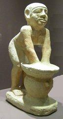 Figur eines Bierbrauers - Ägypten, Antike, Hochkultur, Pharao, vor 4280 Jahren, 2280 vor Chr., Kalkstein, Gizeh, Kairo, Grab, Totenkult, Westfriedhof, 6.Dynastie, Diener, Dienerfigur, Bierbrauer, Bier