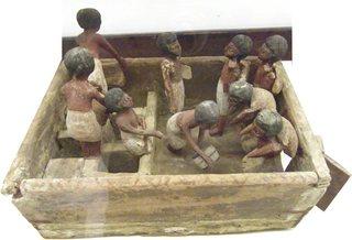 Modell eines Kornspeichers - Ägypten, Antike, Hochkultur, Pharao, vor 4000 Jahren, 2000 vor Chr., Grab, Totenkult, Kornspeicher, Vorratswirtschaft, Korn, sieben fette Jahre