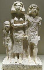 Familie - Ägypten, Antike, Hochkultur, Pharao, Kalkstein, Grab, Totenkult, Ersatzkörper, Grabbeigabe, Statue, Familie