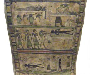 Mumifizierung - Ägypten, Antike, Hochkultur, Pharao, Totenkult, Mumie, Mumifizierung, Kanopen, Eingeweide, Anubis, Tod, Mumienbinde