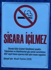 Rauchverbot #2   (Türkei) - Rauchen, Rauchverbot, sigara, icilmez