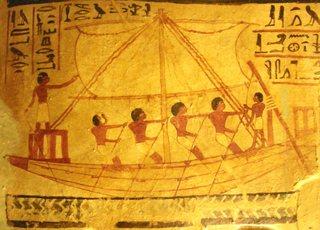Segelschiff - Ägypten, Antike, Grabgemälde, Grab, Schiff, Segelschiff, Matrosen, Ruderboot, rudern, segeln, Nil, Totenkult