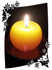Kerze - Kerze, Weihnachten, Licht, Stimmung, Advent, Winter, Effektbild, Flamme