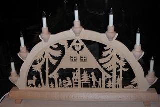 Schwibbogen #1 - Deko, Weihnachtsdeko, Tradition, Weihnachten, Fenster, Licht, Wärme, Kerzen, Holz, Holzkunst, Wald, Krippe, Futterkrippe
