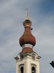 Kirchturmdachrenovierung #1 - Kirche, Kirchturm, Renovierung, Dachstuhl, Zwiebelturm, Sanierung, Instandhaltung, Bausubstanz, Kernsanierung