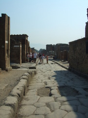 Straße in Pompeji - Straße, Rom, Römisch, Italien, Pompeji, Vesuv, Steine, Pflastersteine, Vesuv, alt, Antike