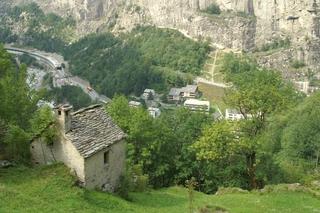 Gondo im Simplon, Murenabgang 2000 - Mure, Alpen, Schweiz, Gondo, Murgang, Rufe