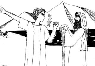 Israeliten beschimpfen Mose - Mose, Auszug, Israeliten, Wut, Meer, Falle