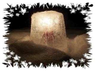 Eislicht #1 - Eis, Eislicht, leuchten, Kerze, Licht, Winter, Stimmung, Effektbild