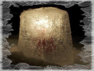 Eislicht #2 - Eis, Eislicht, leuchten, Kerze, Licht, Winter, Stimmung, Effektbild