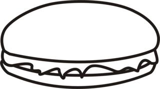Hamburger - Hamburger, Mc Donalds, essen, Fastfood, Anlaut H