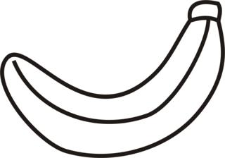 Banane - Banane, Obst, Frucht, geschlossen, Einzahl, Anlaut B