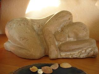 Frau mit Kind, Skulptur, Speckstein - Frau, Kind, Baby, Speckstein, Skulptur, Mutter, beschützen, geborgen, behütet