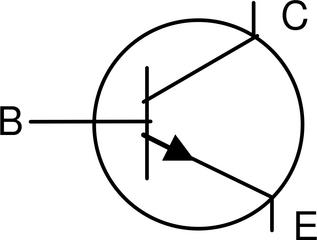 npn - Transistor - Transistor, npn, Basis, Emitter, Kollektor, Schaltsymbol, Stromkreis