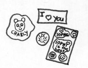 Sticker - Klebebilder, Abziehbilder, Sticker, sammeln, Anlaut S