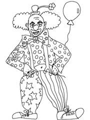 Clown - Clown, lustig, Karneval, Zirkus, Fasching, Kostüm, Spaß, Späße, Anlaut C