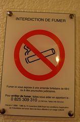 Hinweisschild -  Rauchverbot - Hinweisschild, Rauchverbot, défense de fumer