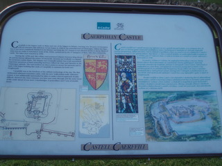 Caerphilly Castle Wales - Infotafel - Wales, Caerphilly Castle, Infotafel