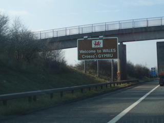 Welcome to Wales Schild - Wales, Schild, Hinweisschild