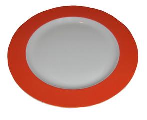 Geschirr Teller - Geschirr, Teller, Frühstücksteller, frühstücken, essen, rot, weiß, Gedeck, Dessertteller, Kuchenteller