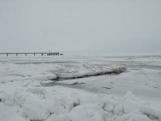 Ostsee im Winter - Ostsee, Binnenmeer, Winter, Schnee, Eis, Usedom, Seebrücke, Kälte