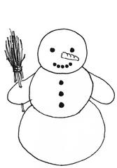 Schneemann - Winter, Schnee, Schneemann, kalt, Illustration, Anlaut Sch