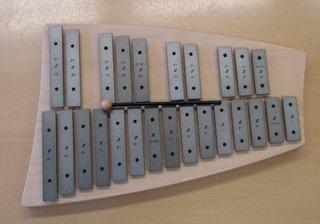 Glockenspiel - Musikinstrument, Klangplatten, Schlägel, Percussion, Orff