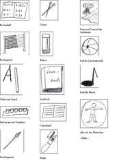 Piktogramme für den Grundschulstundenplan - Mathe, Deutsch, Sachunterricht, Musik, Sport