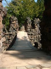 Kettenbrücke im Wörlitzer Park 2 - Brücke, Hängebrücke, Ketten, Gliederketten