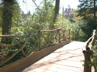 Hornzackenbrücke im Wörlitzer Park 1 - Brücke, Holzbrücke, Architektur