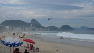 Copacabana #2 - Rio de Janeiro, Rio, Brasilien, Zuckerhut, Pao de Açucar, Morro da Urca, Granithügel, Wahrzeichen, Copacabana