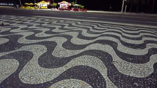 Pflaster der Copacabana #2 - Rio de Janeiro, Rio, Brasilien, Copacabana, Mosaik, Pflasterung