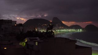 Copacabana #3 - Rio de Janeiro, Rio, Brasilien, Zuckerhut, Pao de Açucar, Morro da Urca, Granithügel, Wahrzeichen, Copacabana