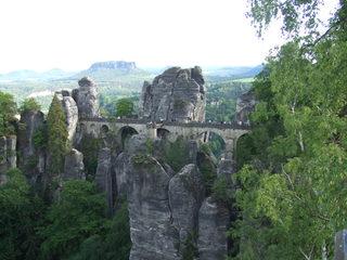 Basteibrücke - Bastei, Sachsen, Elbsandsteingebirge, Elbe, Sandstein, Natur, Gebirge, Brücke