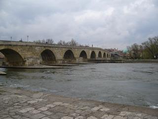 Regensburg - Brücke, Architektur, Donau, Fluss, Regensburg, Mittelalter, Bauwerk