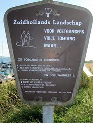 Niederländisches Hinweisschild - Niederländisch, Niederlande, Holland, Schild, Verbot, Hinweis