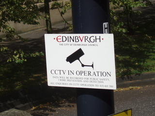 CCTV Schild in Edinburgh - Schild, Sign, CCTV, Scotland, UK, Edinburgh