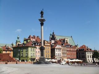 Warschau #3 - Warschau, Polen, Architektur, Zamkowy Platz, Sigismund Säule