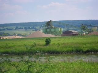 Kiesgrube3 - Sand, Kies, Kiesgrube, Flussablagerungen, Baumaterial, Fluss, Sedimente, Weser, Sieb, Holzminden