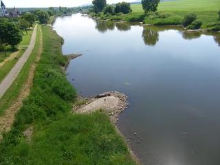 Buhnen - Buhnen, Weser, Fluss, Strom, Holzminden, Strömung