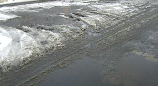 Schneematsch - Schneematsch, Schnee, tauen, schmelzen, Aggregatzustand, Wasser, Aggregatzustand von Wasser