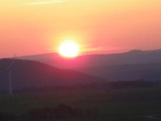 Vulkanrot - rot, rötlich, Licht, Lichtbrechung, Optik, Staub, Schwebstoffe, Abendrot, Sonne, Sonnenuntergang, Vulkan, Island, Vulkanasche, Luftströmung