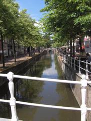 Gracht in Delft #1 - Gracht, Niederlande, niederländisch, Holland, Wasser, Wasserweg, Transport, Graben, Kanal