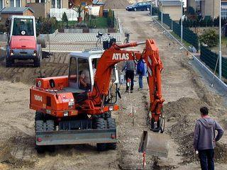 Bagger  - Bauen, Baustelle, Straßenbau, Bagger, Erde, Schaufel, graben